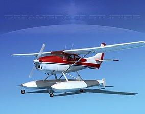 3D model Cessna 182 Skylane Seaplane V06