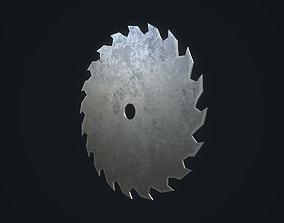 3D asset game-ready Saw Blade