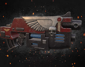 3D model Warhammer 40 000 Combi Bolter Plasma Gun Weapon 2