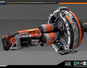 EXPLORER WarpDrive-Ship EX6 3D asset