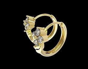 430 Diamond Earrings 3D print model