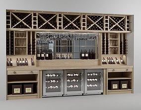 interior 3D model Wine bar