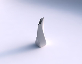 3D print model Vase twisted top bent rectangle smooth
