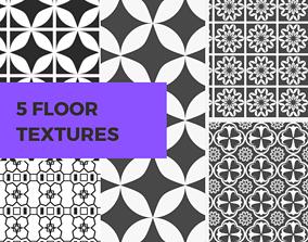 5 Floor Texture Bundle 3D model