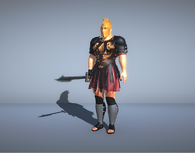 3D model Gladiator King with sword