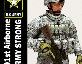 US Army 101st Airborne Division Captain 3D