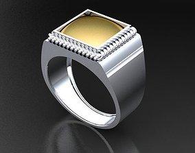 3D printable model Ring Chevalier Simple