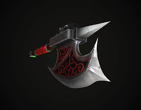3D asset Blood axe