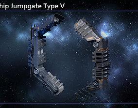 3D asset Spaceship Jumpgate Type V