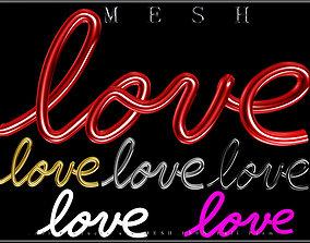 Wire Love 3D asset