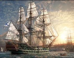 Battleship Azov 3D asset