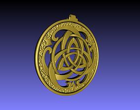 medallion trinity pendant 3D printable model