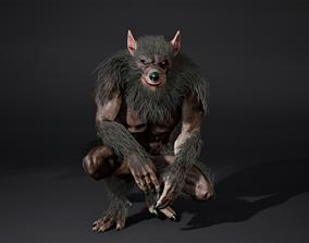 Werewolf face rig 3D model