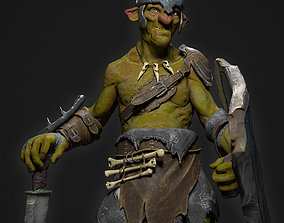 Goblin Fighter 3D asset