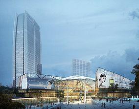 3D Skyscraper business building 010