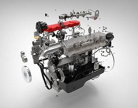 3D model Engine internal combustion engine mechanical 1