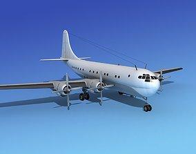 3D model Boeing 377 Unmarked