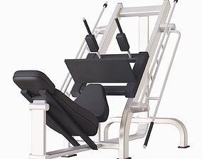 3D model gym press machine workout