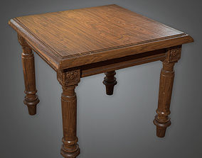 Table 01 Antiques - PBR Game Ready 3D asset