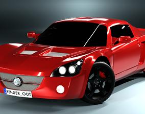 3D model Opel speedster sport car
