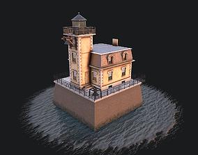 Lighthouse Hudson-Athens 3D asset