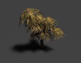 low poly leaf tree 3D model