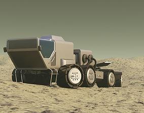 3D model rigged Mars Rover