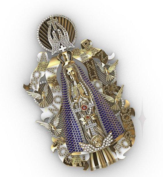 Pendant ice religious virgin Maria