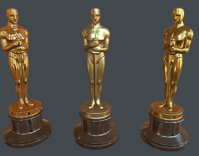 3D model Oscar statuette PBR Game Ready