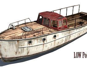 3D asset Rusty boat 2