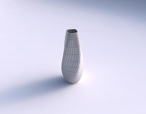 Narrow top vase helix with grid plates 3D printable model