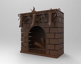 3D print model miniatures fireplace
