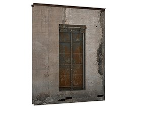 Industrial Metal Windows 01 03 3D asset