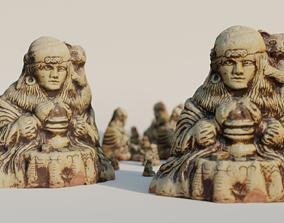 3D model Matchless 1981 Earthenware Statue damaged