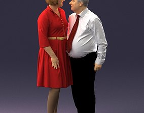 Elderly man and woman 0177 3D Print Ready