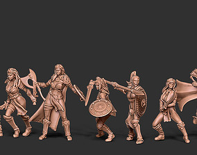 3D printable model Girls fight club bundle - 10 girls 3