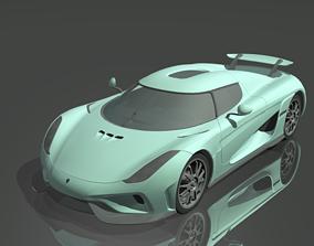 Koegnigsegg Regera 3D asset