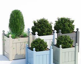 3D model Timber classic planter