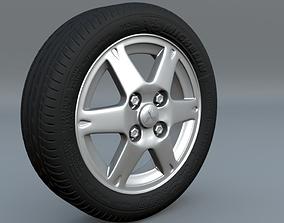 3D model tire and rim scene file