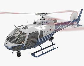 AS-350 LAPD 2 Animated 3D asset