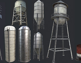 3D model Industrial Structures PBR Collection
