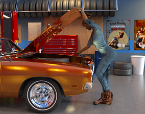 MECHANIC WOMAN WITH WRENCH 3D printable model