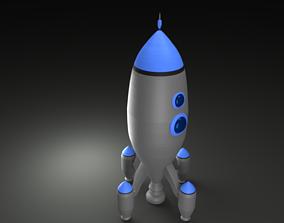 3D model lowpoly rocket
