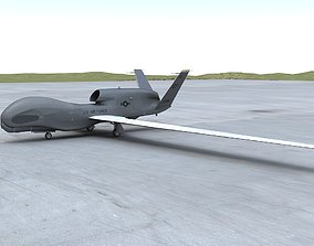 3D model RQ-4 Global Hawk