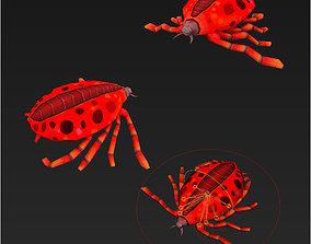 Clash royale style animated blood Ticks fantasy 3D model