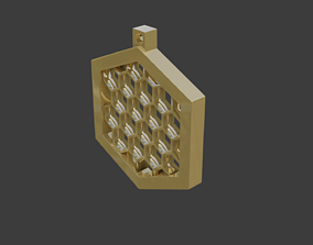 rgd honeycomb pendant 3D model