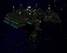 Space Station 3D model game-ready