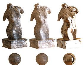 3D asset woman sculpture 001