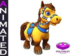 Cartoon Talking Horse 3D model
