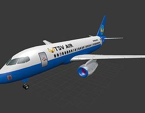 3D model low-poly Sukhoi Superjet 100
